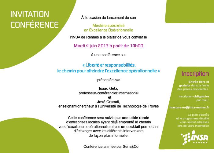 Lancement Du Mastere En Excellence Operationnelle A L Insa