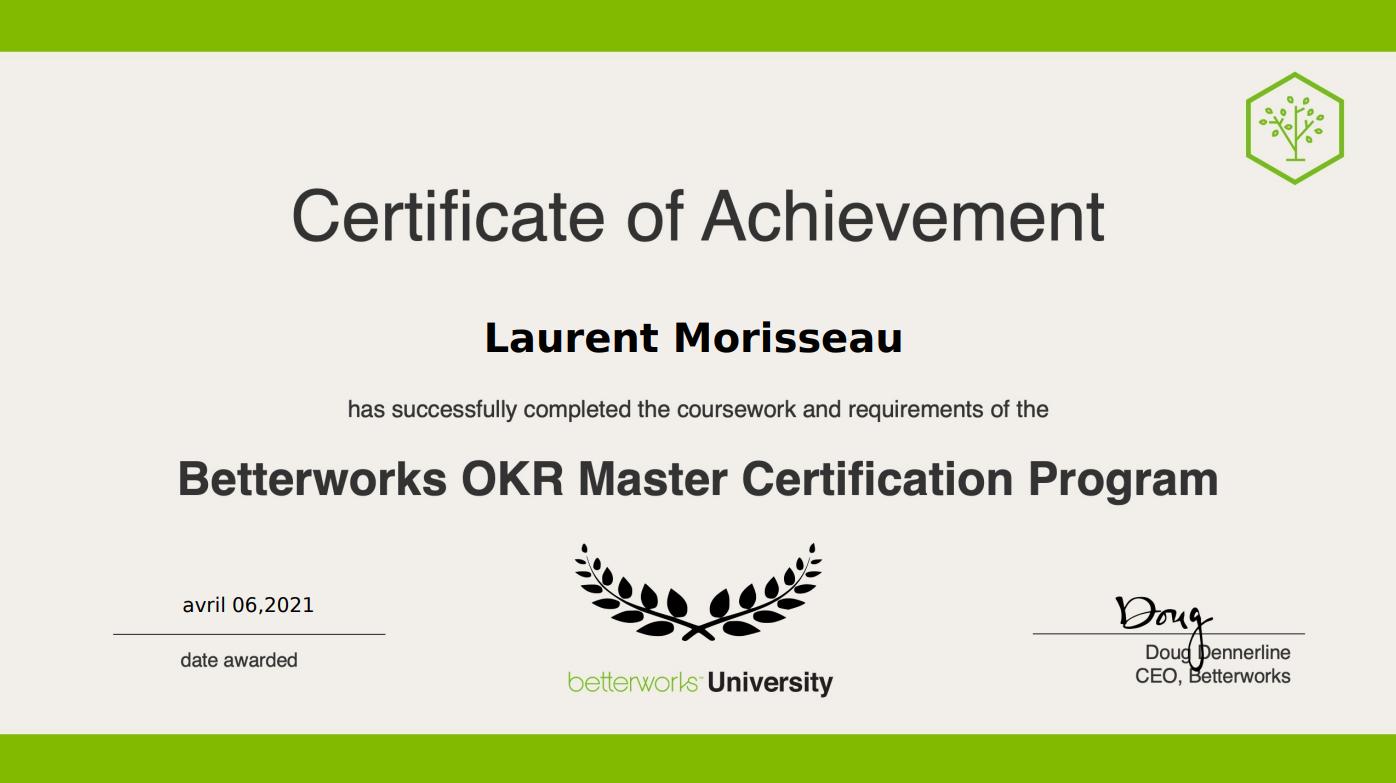 OKR Master Certification